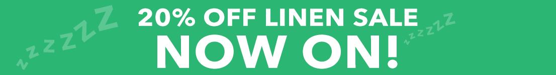 20% Off Linen Sale