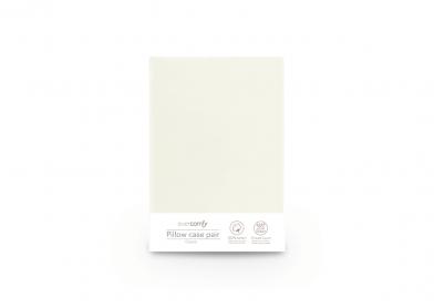 Evercomfy Pillow Cases Cream (Pair)