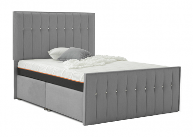 Revive Divan Bed, King, Ottoman (Right-Opening), Cayenne Grey