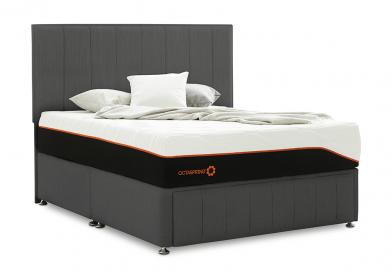 Roma Divan Bed, King, 4 Drawers, Cayenne Black