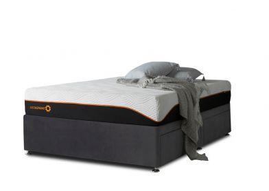 Tiffany Divan Bed, Double, 2 Drawers, Velvet Steel