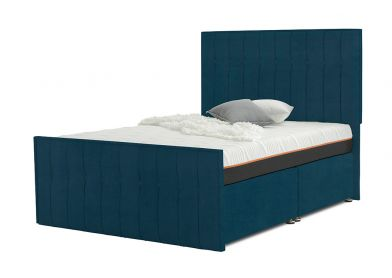 Vibrance Divan Bed, Double, 2 Drawers, Velvet Teal