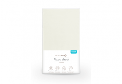 Evercomfy Fitted Sheet Cream, Single