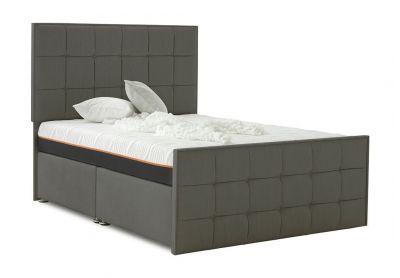 Loire Divan Bed, Double, Cayenne Brown