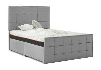 Loire Divan Bed, Double, Silver Mist