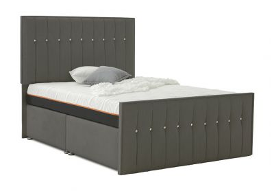 Revive Divan Bed, Double, Cayenne Brown