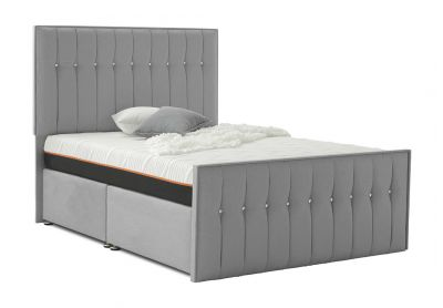 Revive Divan Bed, Double, Silver Mist