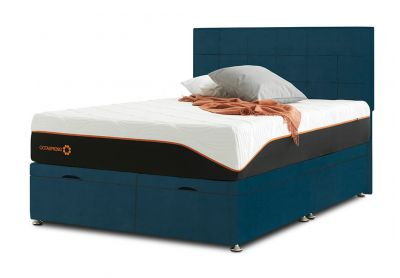Tiffany Castello Divan Bed & Headboard, Super King, Ottoman (End-Opening), Velvet Teal