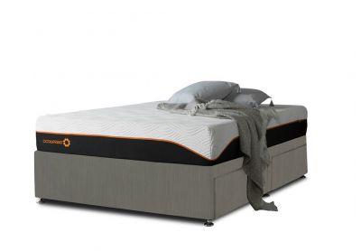Tiffany Divan Bed, Single, Cayenne Brown