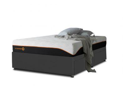 Tiffany Divan Bed, Single, Midnight Black