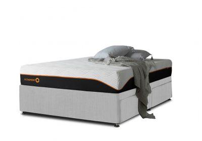 Tiffany Divan Bed, Single, Silver Mist