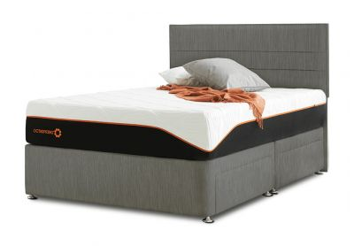Tiffany Milano Divan Bed & Headboard, Single, Cayenne Brown