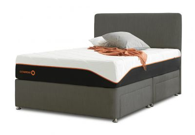 Tiffany Palermo Divan Bed & Headboard, Single, Cayenne Brown
