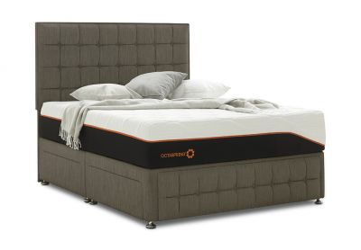 Venice Divan Bed & Headboard, Single, Cayenne Brown
