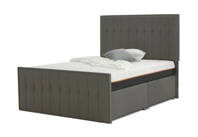 Vibrance Divan Bed, Double, 2 Drawers, Cayenne Brown