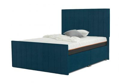 Vibrance Divan Bed, Double, 2 Drawers, Velvet Teal