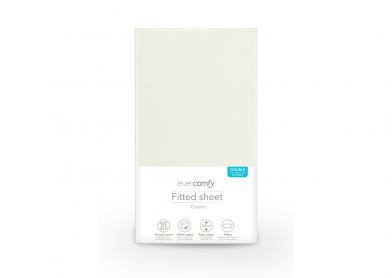 Evercomfy Fitted Sheet Cream, Double