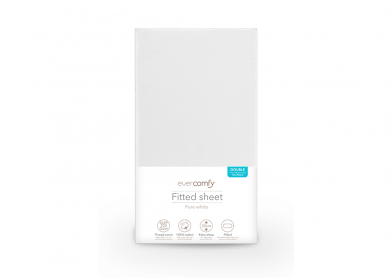 Evercomfy Fitted Sheet Pure White