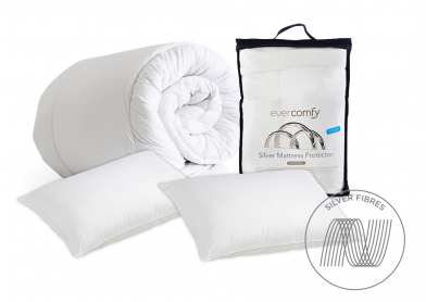 Evercomfy Silver Bedding Bundle