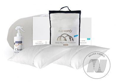 Evercomfy Silver Complete Bedding Bundle