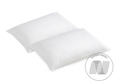 Evercomfy Silver Pillows (Pair)