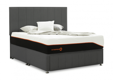 Roma Divan Bed, King, 4 Drawers, Cayenne Black