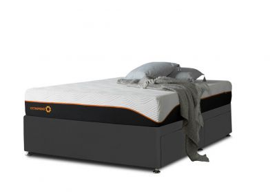 Tiffany Divan Bed, Single, Midnight Black