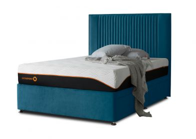 Tiffany Starlight Divan Bed & Headboard, King, 2 Drawers, Velvet Teal