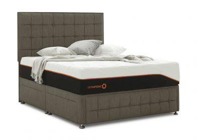 Venice Divan Bed, Double, 4 Drawers, Cayenne Brown