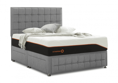 Venice Divan Bed, Super King, 2 Drawers, Cayenne Grey