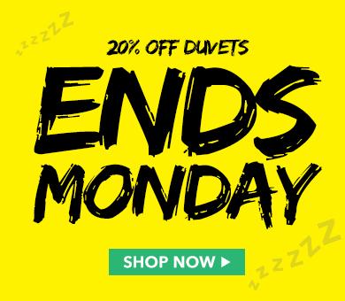 20% off Duvets ends Monday