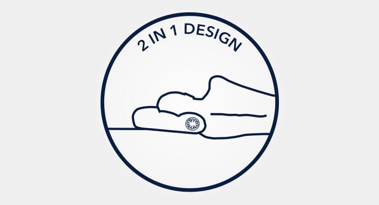 Unique 2 in 1 pillow design