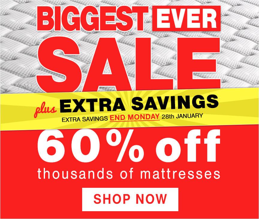 Biggest Ever Mattress Sale