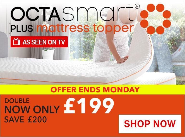 Octasmart Plus Memory Foam Mattress Topper Sale