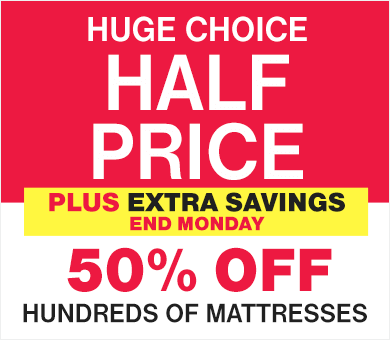 Half Price Mattress Sale